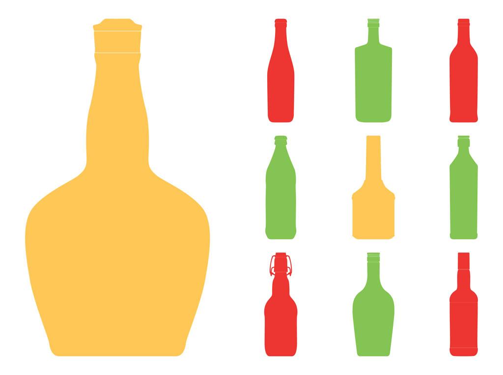 1024x765 Bottle Silhouettes Set Free Vectors Ui Download