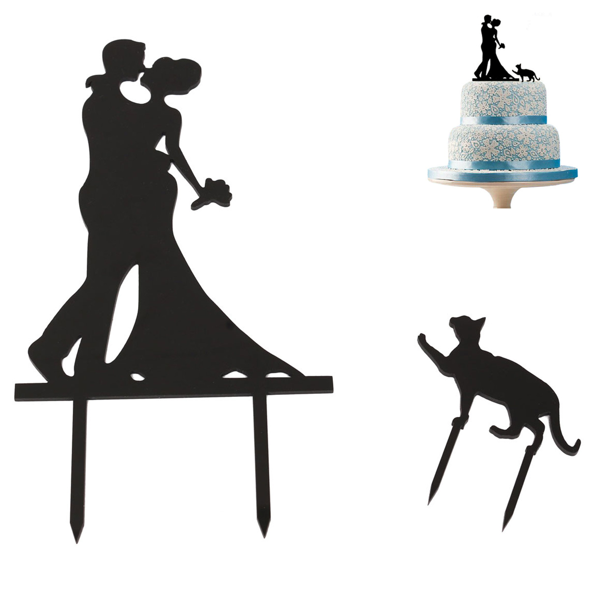 1200x1200 Buy 1pcs Bride And Groom Cake Topper Acrylic