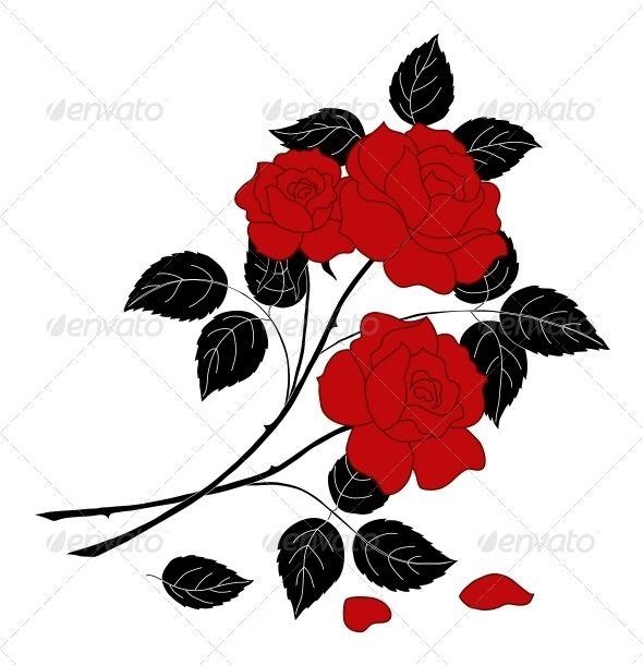 590x610 Flowers Rose, Silhouette Rose Bouquet, Silhouettes And Ai