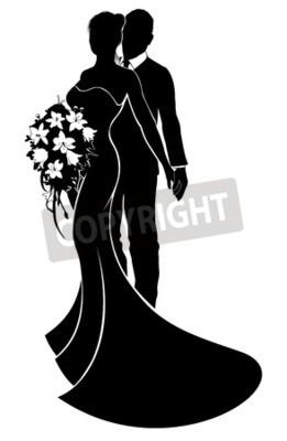 261x400 Vector Of A Bride And Groom Wedding