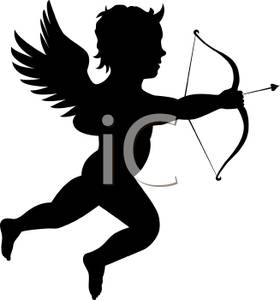 280x300 Picture A Silhouette Of Cupid Holding A Bow And Arrow