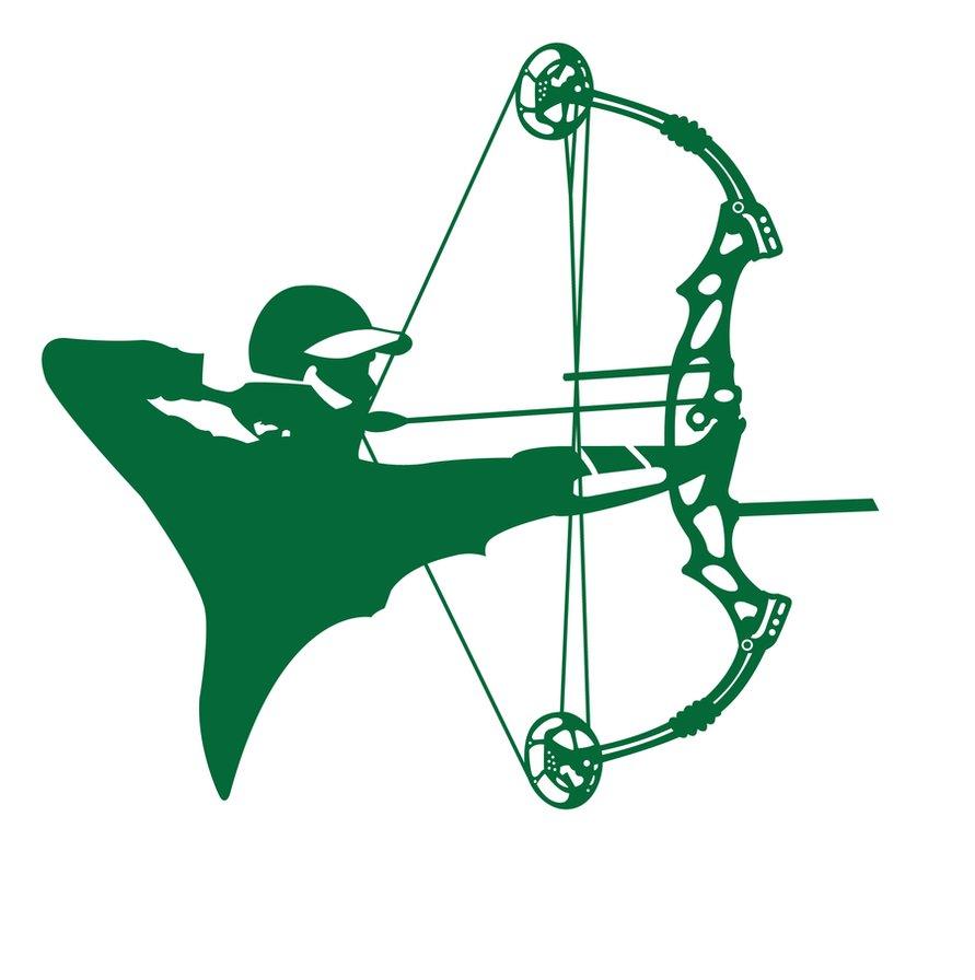 891x896 Compound Archery Silhouette By Graviss