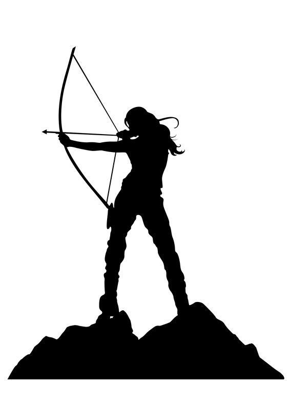 566x801 Lady Archery Silhouette