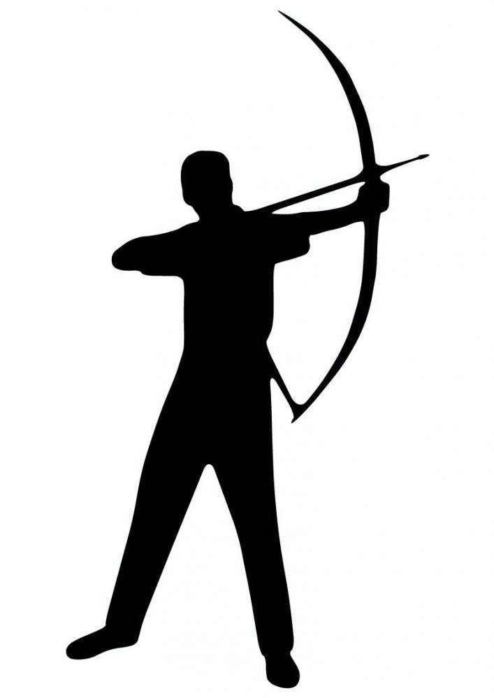 707x1000 Archery Silhouette Wall Decal By Wallmonkeys Peel