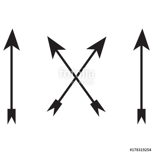 500x500 Bow Arrows Silhouette Stock Image And Royalty Free Vector Files