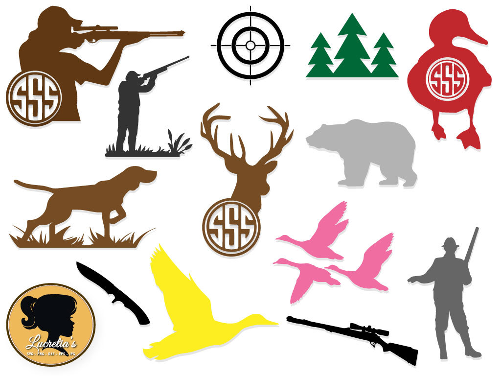 1024x768 Hunter ,target Svg, Hunting Silhouette , Instant Downloads,format
