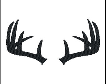 340x270 Svg And Dxf File Deer, Deer Head, Antlers, Tribal, Silhouettes