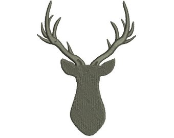 340x270 9 Size Buck Deer Silhouette Embroidery Design Machine Embroidery