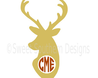 340x270 Buck And Bow Antler Monogram Embroidery Design Machine Embroidery