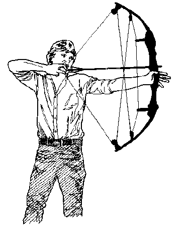 384x470 Compound Bow Hunting Clip Art