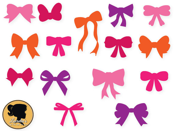 570x428 Bows Svg And Dxf Cut File For Silhouette, Shaped Bow Silhouette