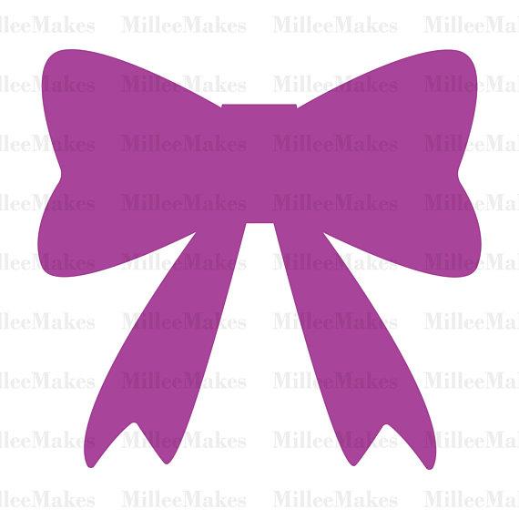 570x570 Cute Bow Vector, Bow Silhouette Svg, Bow Clipart, Htv, Vinyl