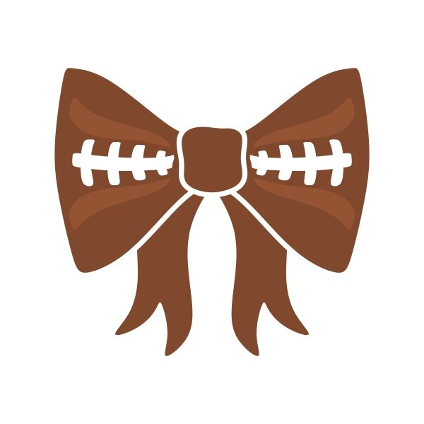 600x600 Football Bow Cuttable Design Cut File. Vector, Clipart, Digital