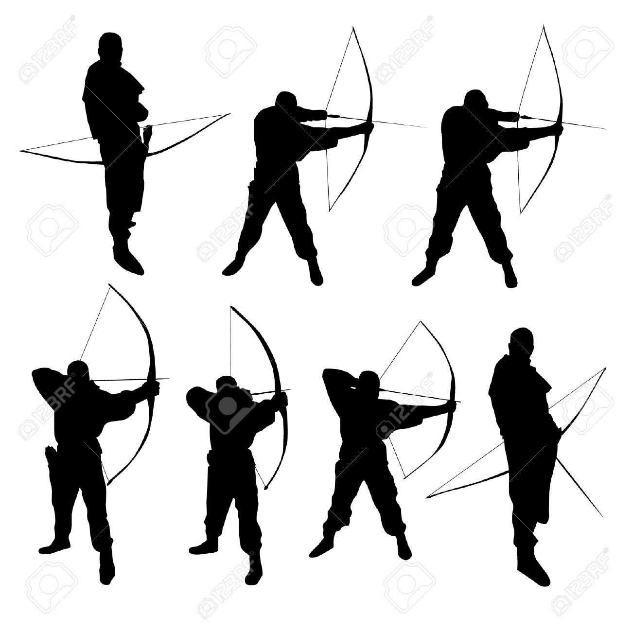 1300x1300 Stunt Clipart Bow And Arrow