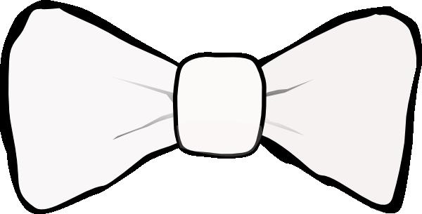 600x305 Bow Tie White Clip Art