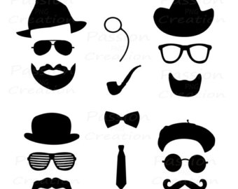 340x270 Western Bow Tie Silhouette Vector Clipart
