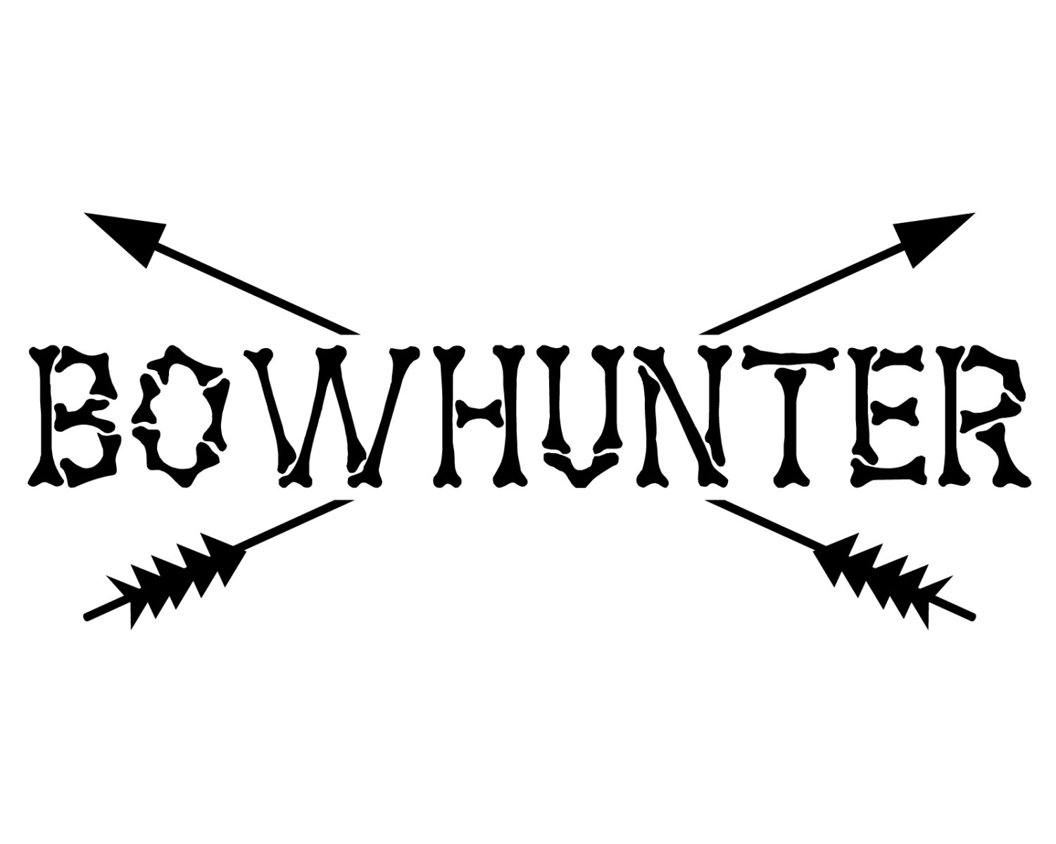 1500x1200 Bow Hunter Vinyl Decal Bow Hunting Sticker Bowhunter