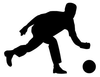 320x246 Bowler Silhouette Decal Sticker