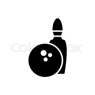 320x320 Bowling Ball Icon. Cartoon Illustration Of Bowling Ball Vector