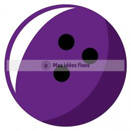 264x264 Bowling Ball Silhouette Cut File Sports