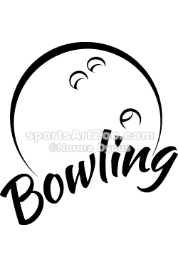 250x375 Bowling With Fun Text Texts And Vector Clipart