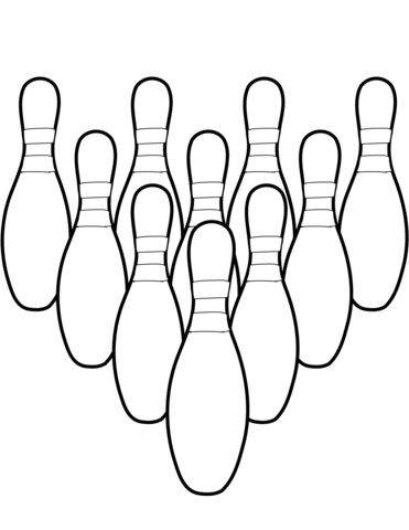 371x480 Ten Bowling Pins Coloring Page Free Printable Coloring Pages