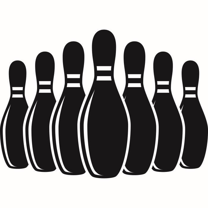 700x697 Bowling Pins 1 Setup Sports Game Logo League.svg Eps Png