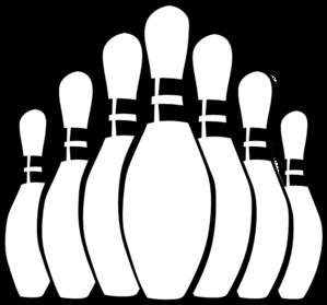 299x279 Bowling Pins Clip Art