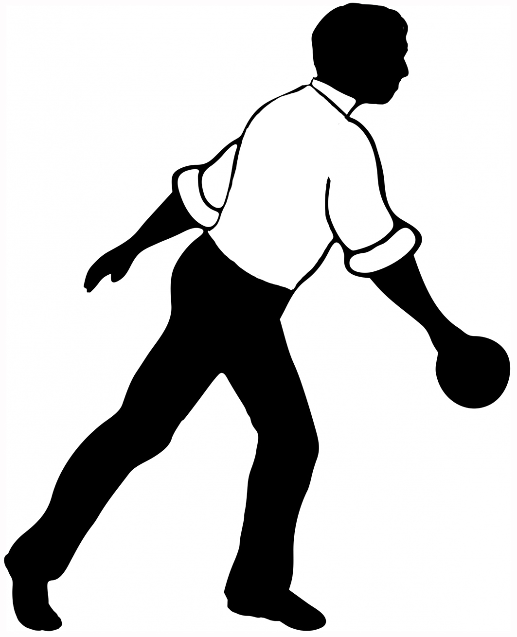 1063x1310 Bowling Clipart Guy