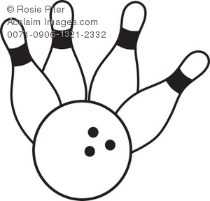 300x288 Bowling Ball Crashing Into Bowling Pins Coloring Page
