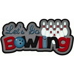 300x300 Lets Go Bowling Title Pnc Silhouette Design, Silhouette And Clip Art