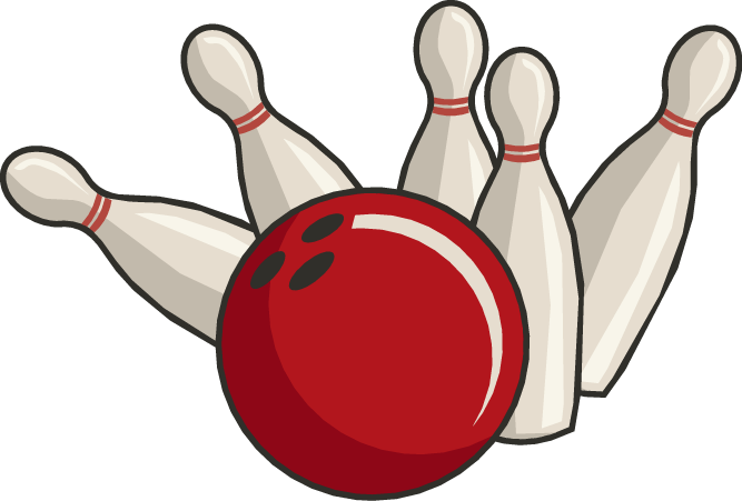 667x451 Awesome Bowling Clip Art Pins At Clker Com Vector Online Royalty