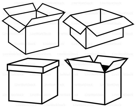box silhouette at getdrawings com free for personal use box rh getdrawings com shoe box clipart black and white gift box clipart black and white