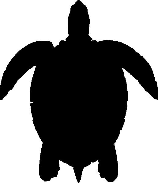 516x598 Turtle Black Silhouette Clip Art