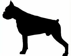 Boxer Dog Head Silhouette