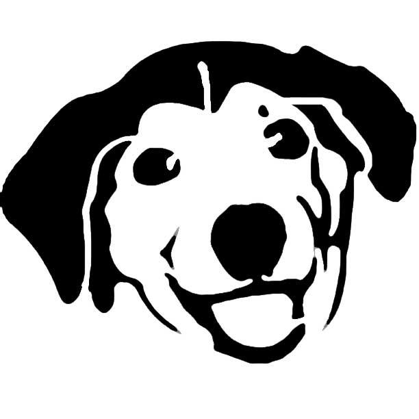 612x612 Cute Dog Head Clipart