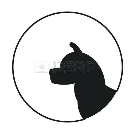 450x450 Dog Head Silhouette Boxer Dog Head Silhouette