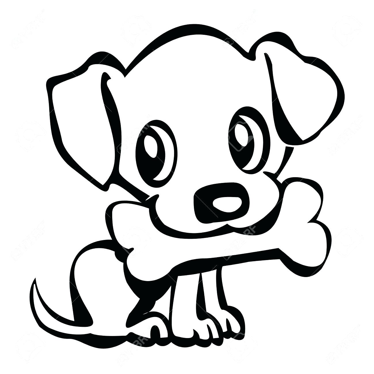 1300x1300 Puppy Clipart Dog Outline 3825077
