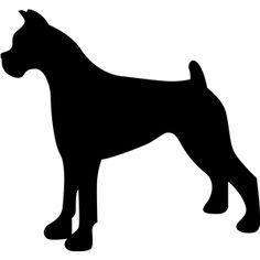 236x236 Dog Head Silhouette