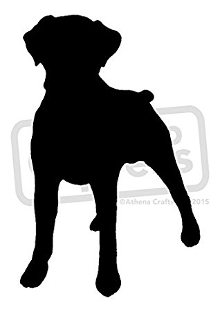 Boxer Dog Silhouette