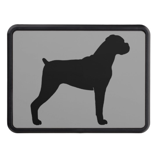 540x540 Boxer Dog Silhouette Hitch Cover