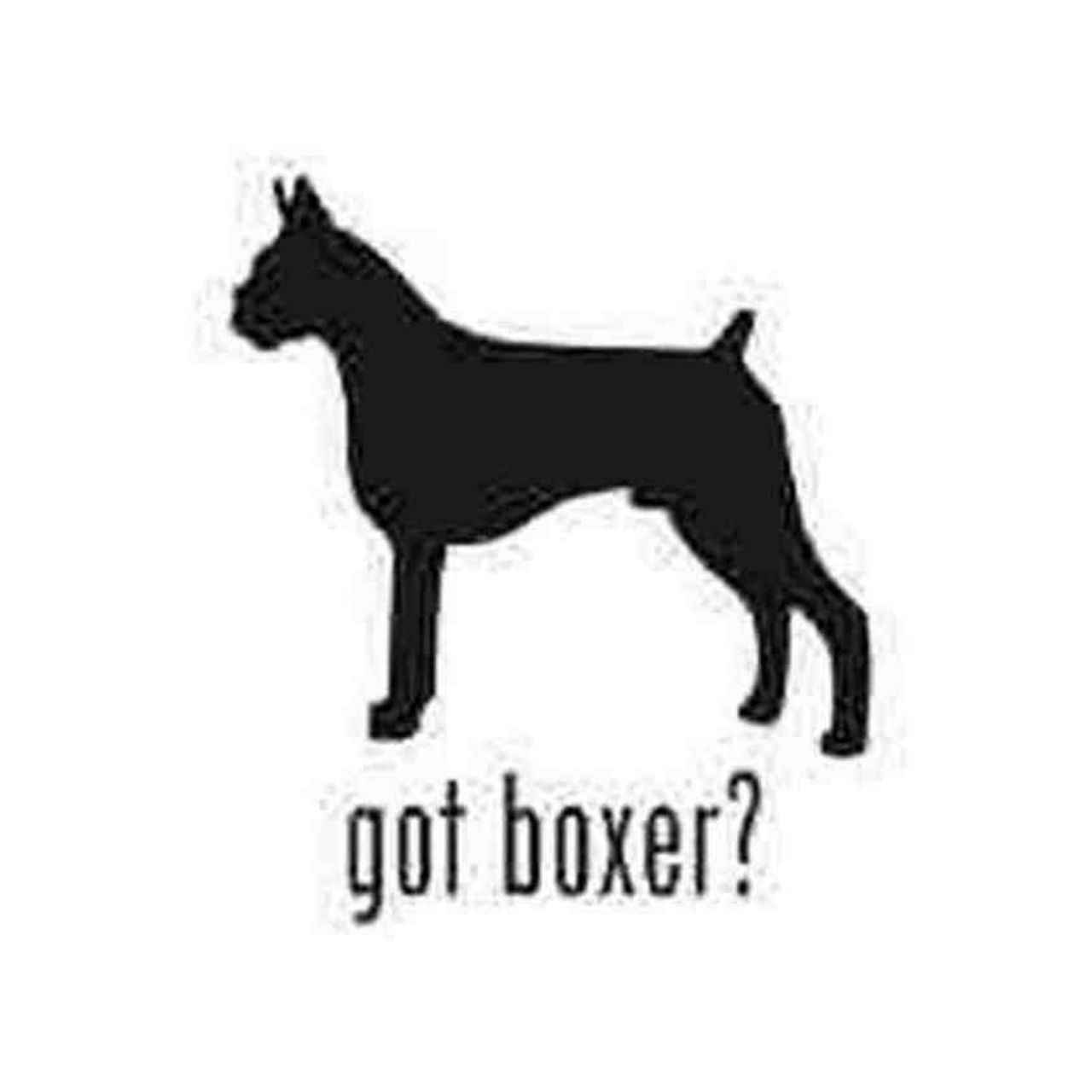 1280x1280 Boxer Dog Silhouette V.2 Decal Sticker