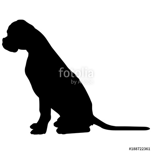 500x500 Boxer Dog Silhouette Vector Graphics Stock Image And Royalty Free