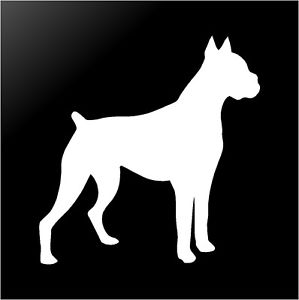 299x300 Boxer Vinyl Decal Car Window Laptop Dog Silhouette Sticker Ebay