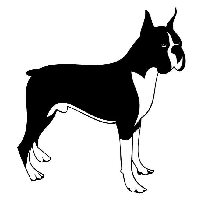 660x660 Boxer Dog Vector Clip Art