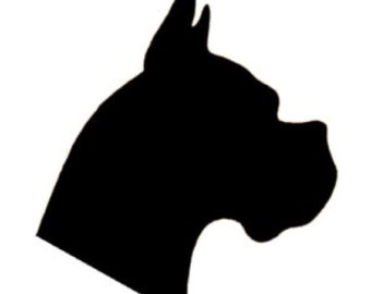 340x270 Boxer Dog Head Silhouette Embroidery Mini Designs In 4 Sizes