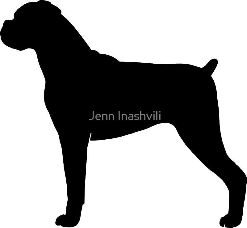 800x738 Boxer Dog Silhouette(S) Stickers By Jenn Inashvili Redbubble