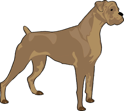 400x358 Image Of Boxer Dog Clipart