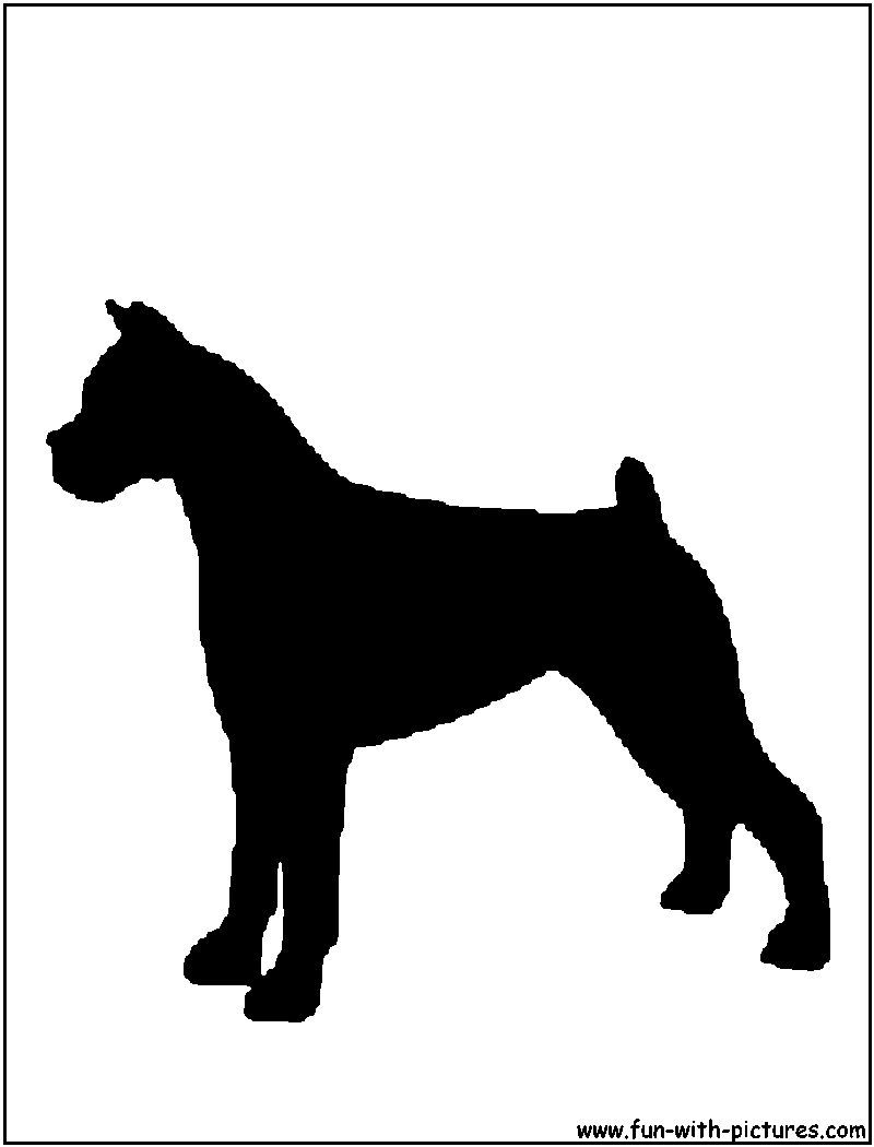 800x1050 Boxer Silhouette Just Luv Dogs Silhouette, String