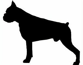 279x220 Boxer Dog Silhouette Clipart Collection